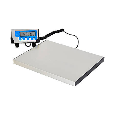 Brecknell 400 lb. Portable Shipping Scale - 400 lb / 181 kg Maximum Weight Capacity - White
