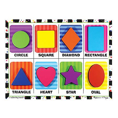 Melissa & Doug Shapes Chunky Puzzle