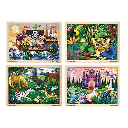 Melissa & Doug Jigsaw 48-Piece Puzzles, Set Of 3