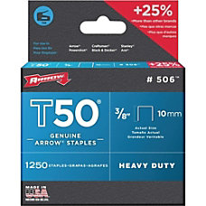 Arrow T50 Heavy Duty Staples 38