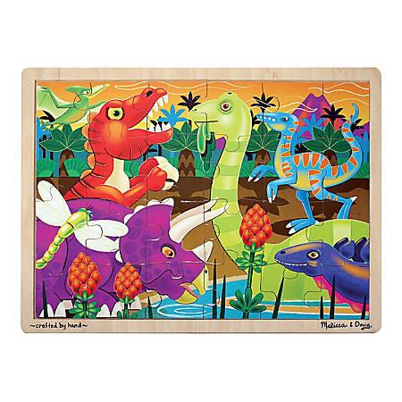 Melissa & Doug Prehistoric Sunset Dinosaurs 24-Piece Jigsaw Puzzle