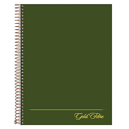 "Ampad® Gold Fibre® Classic Project Planner, 7 1/4"" x 9 1/2"", Green, Undated"
