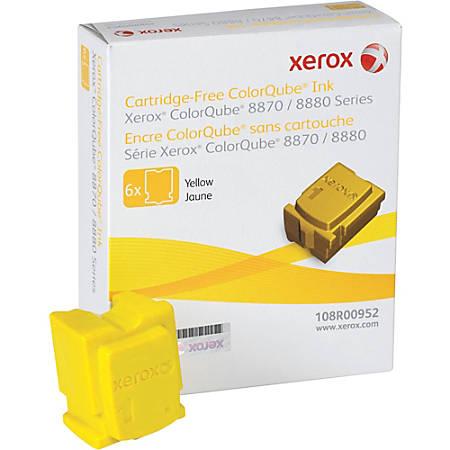 Xerox 108R00952 Colorqube Ink Yellow Colorqube 8870 6 Sticks For Use in North America
