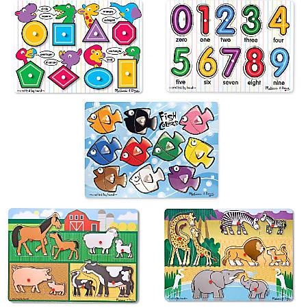 Melissa & Doug Peg Puzzle Set, Set Of 5