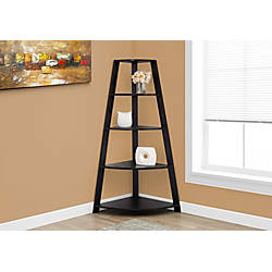 Monarch Specialties Corner 4 Shelf Bookcase