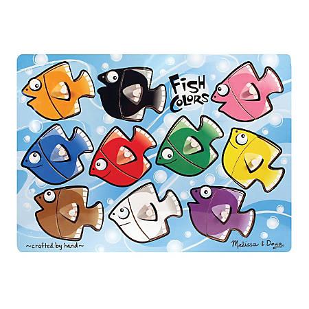 Melissa & Doug Fish Colors Mix 'N Match 10-Piece Peg Puzzle