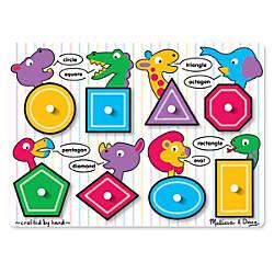 Melissa Doug Shapes Peg Puzzle