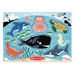 Melissa Doug Sea Creatures Peg Puzzle