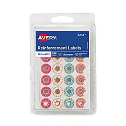 Avery Fashion Reinforcement Labels 14 Round