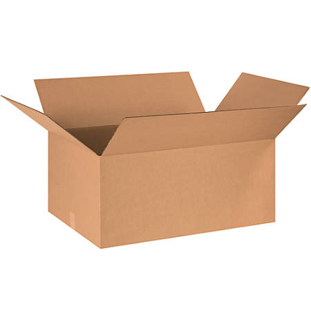 "Office Depot® Brand Corrugated Boxes, 18""H x 24""W x 36""D, 15% Recycled, Kraft, Bundle Of 10"