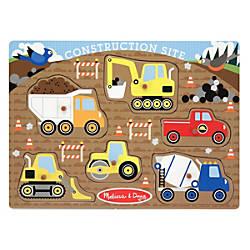 Melissa Doug Construction Site Peg Puzzle