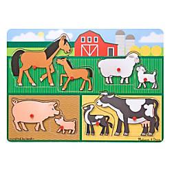 Melissa Doug Farm Peg Puzzle