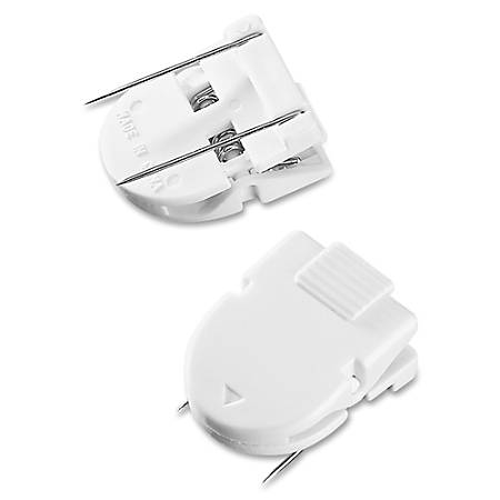 Advantus Panel Wall Clips, White, Pack Of 4