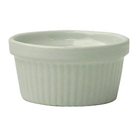 International Tableware Fluted Ramekins, 2 Oz, European White, Set Of 36 Ramekins
