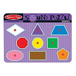 Melissa Doug Shapes Sound Puzzle