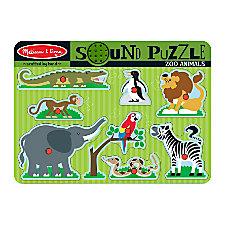 Melissa Doug Zoo Animals Sound Puzzle