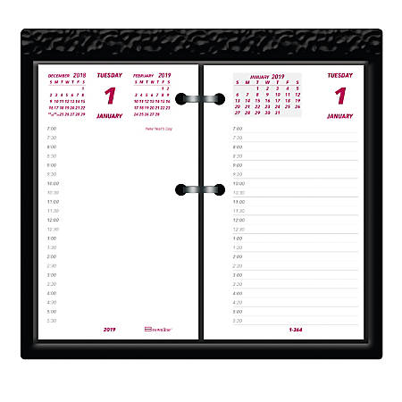 """Brownline® Daily Calendar Pad Refill, 6"""" x 3 1/2"""", White, January to December 2019"""
