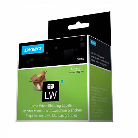 """DYMO® White LabelWriter® Shipping Labels, 30256, 2 5/16"""" x 4"""",Roll Of 300"""