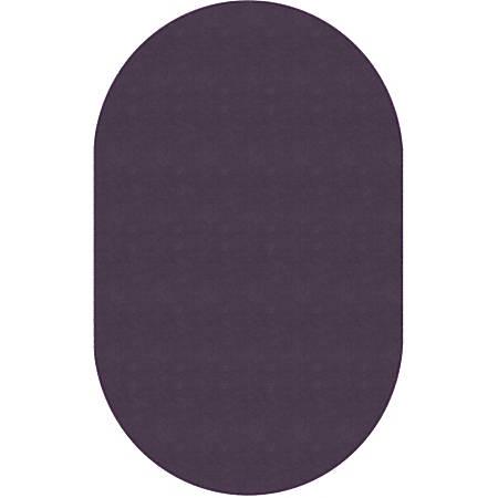 Flagship Carpets Americolors Rug, Oval, 12' x 18', Pretty Purple
