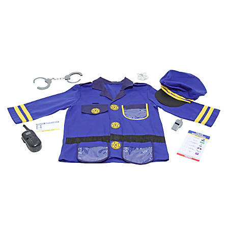 Melissa & Doug Police Officer 8-Piece Role Play Set