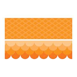 "Educational Décor Border Pack, 2 1/4"" x 35', Orange, Grades 1-8"