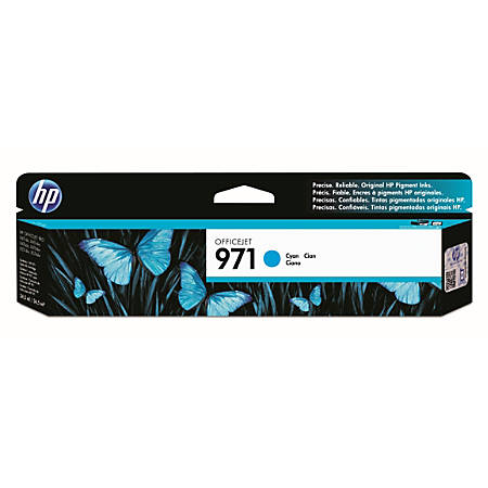 HP 971 Cyan Ink Cartridge (CN622AM)