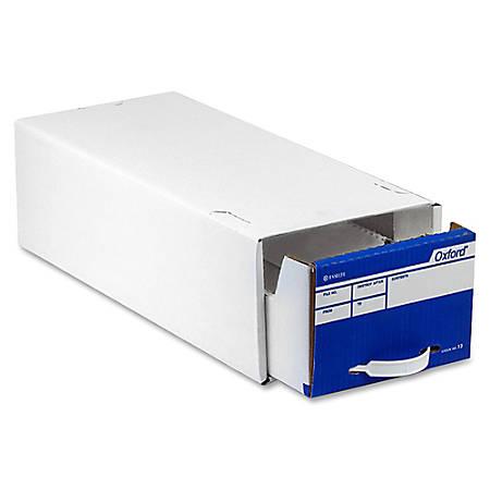"Oxford® Standard Storage File, 6 3/5"" x 24"" x 9 3/10"", White/Blue"