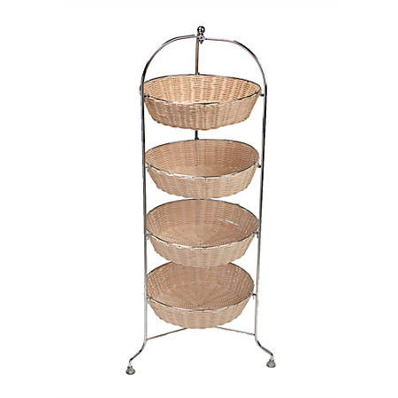 Mind Reader 4-Tier Stainless-Steel Mobile Cart, Brown