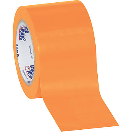 "BOX Packaging Solid Vinyl Safety Tape, 3"" Core, 3"" x 36 Yd., Orange, Case Of 3"