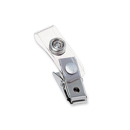 GBC® Badgemates Strap Clips, Clear, Pack Of 100