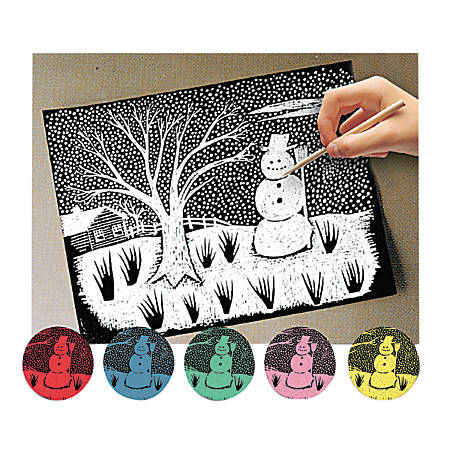 Melissa & Doug Scratch Art Paper, Pack Of 12 Sheets, Assorted Colors