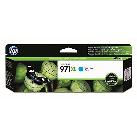 HP 971XL Cyan High-Yield Ink Cartridge (CN626AM)