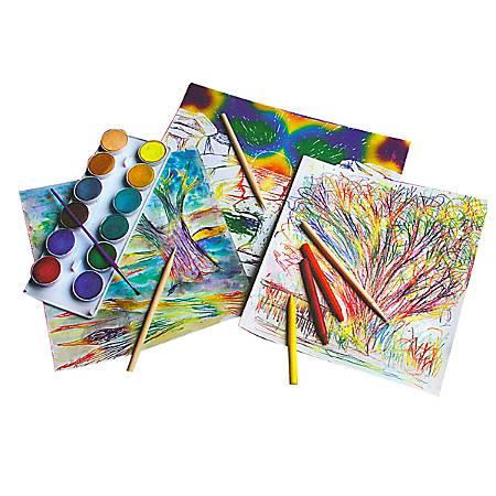 "Melissa & Doug Scratch Art Paper, 8 1/2"" x 11"", Rainbow White, Pack Of 50 Sheets"