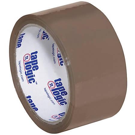 "Tape Logic® #600 Hot Melt Tape, 3"" Core, 2"" x 55 Yd., Tan, Case Of 6"