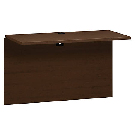 "HON 10500 Series Bridge, 47""W x 24""D - 47"" x 23.9"" x 29.5"", Edge, 47"" x 24""Work Surface - Square Edge - Material: Wood, Particleboard Modesty Panel - Finish: Thermofused Laminate (TFL), Mahogany, Mocha"