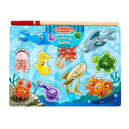 Melissa & Doug Fishing Magnetic 10-Piece Puzzle Game