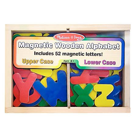 Melissa & Doug Magnetic 52-Piece Wooden Alphabet