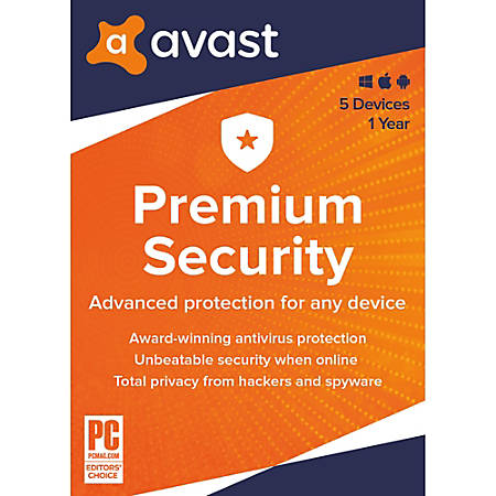 Avast Premium Security 2020 | 5 Devices 1 Year | Download
