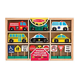 Melissa Doug Wooden Vehicles And Traffic