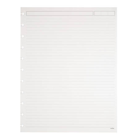 "TUL™ Custom Note-Taking System Discbound Refill Pages, 81/2"" x 11"", Narrow Ruled, Letter Size, 100 Pages (50 Sheets), White"