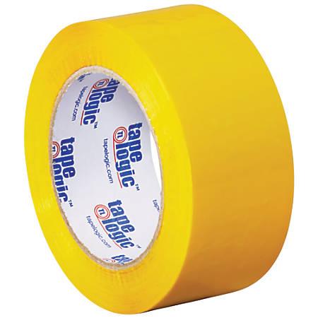 """Tape Logic® Carton-Sealing Tape, 3"""" Core, 2"""" x 110 Yd, Yellow, Pack Of 6"""