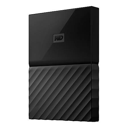 WD My Passport™ Portable External Hard Drive, 1TB, USB 2.0/3.0, WDBYNN0010BBK-WESN, Black