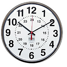 SKILCRAFT 24 Hour Clock 12 Diameter