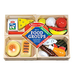 Melissa Doug Food Groups Wooden Set