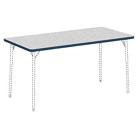 "Lorell® Classroom Rectangular Activity Table Top, 60""W x 30""D, Gray Nebula/Navy"