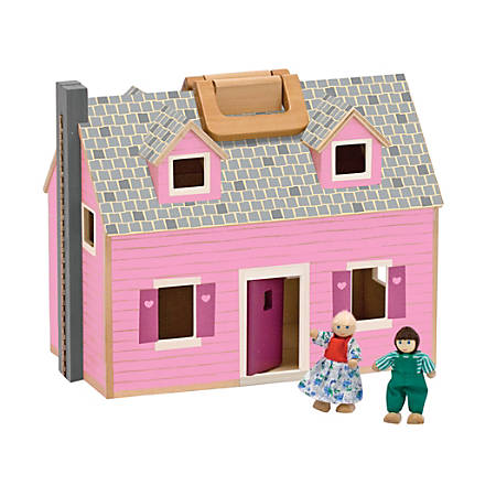 Melissa & Doug 14-Piece Fold And Go Dollhouse