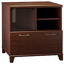 Bush furniture achieve printer stand file cabinet sweet cherry standard delivery by office depot - Officemax home office furniture ...