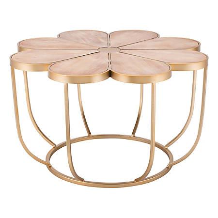 Zuo Modern Margarita Table, Round, Brown