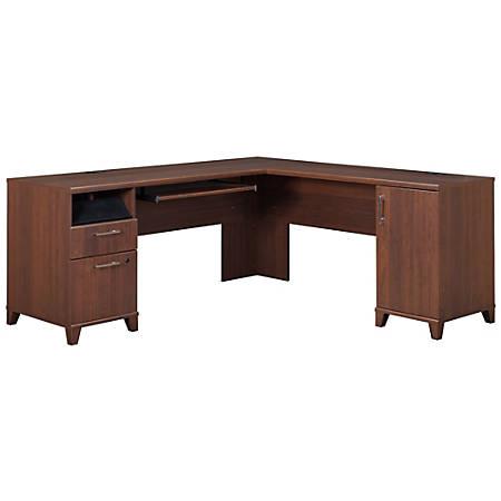 Bush Furniture Achieve L Shaped Desk, Sweet Cherry, Standard Delivery