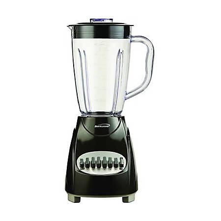 Brentwood (JB-220B) 12 Speed Blender Plastic Jar - Black - 350 W - 1.59 quart - 12 Speed Setting(s) - Black
